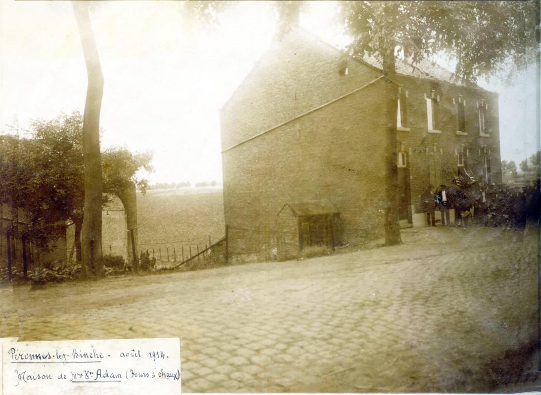 Peronne-lez-Binche-Maison-Adam-aout-1914