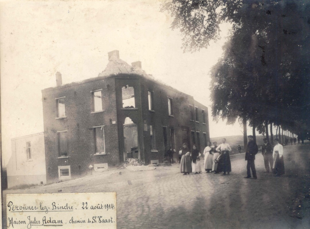 Peronne-lez-Binche-Maison-Jules-Adam-22-aout-1914