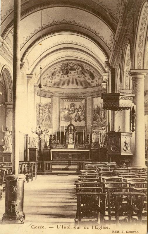 Eglise-de-Gozee- 1914