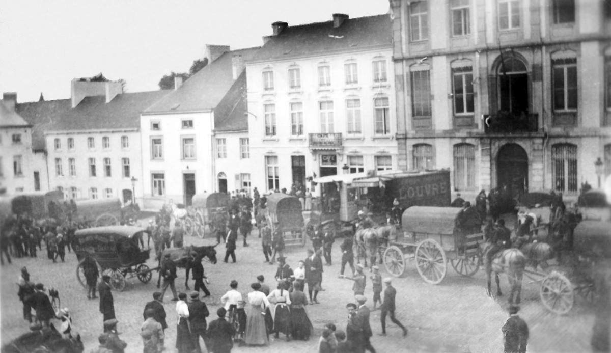 Requisition-camions-attelages-19-aout-1914-Fontaine-l-Eveque